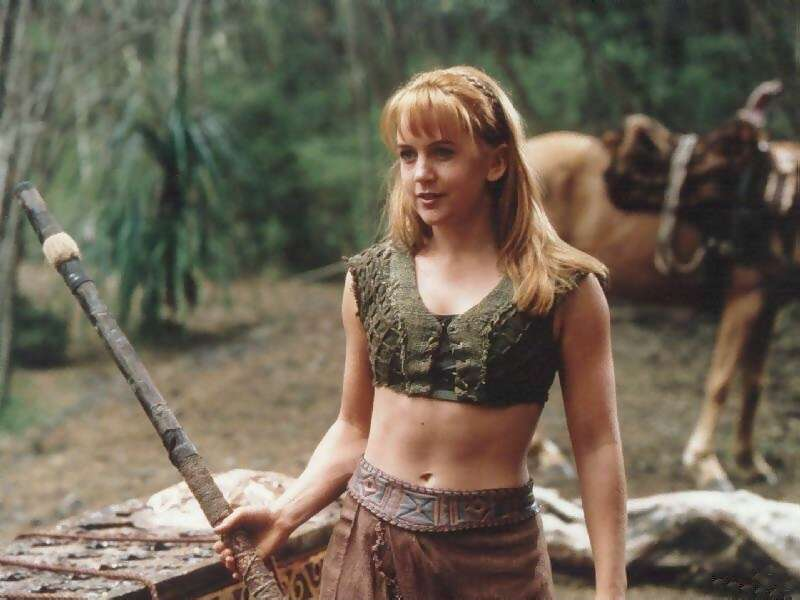 Renee O'Conner playing a role of Grabielle in Xena